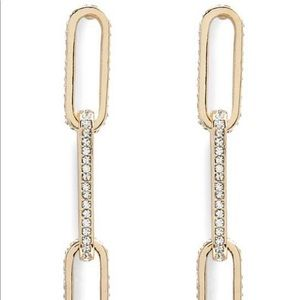 Anchor chain drop earrings